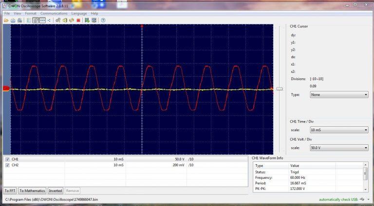Analog Meter oscilloscope trace